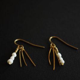 Boucles d'oreilles en laiton et porcelaine